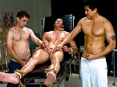 Muscle stud gets a physical exam then he gets bound and humiliate