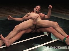 Two hot studs go balls to the wall fighting for sexual dominance.