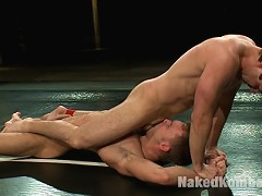 Ripped Zach Alexander dominates Tucker Scott with his huge cock.