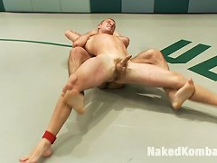DJ and Sebastian Keys take it to the mat to see who will be the loser and made to gag on some big cock.